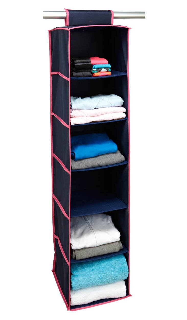 6-Shelf Hanging Organizer, Navy