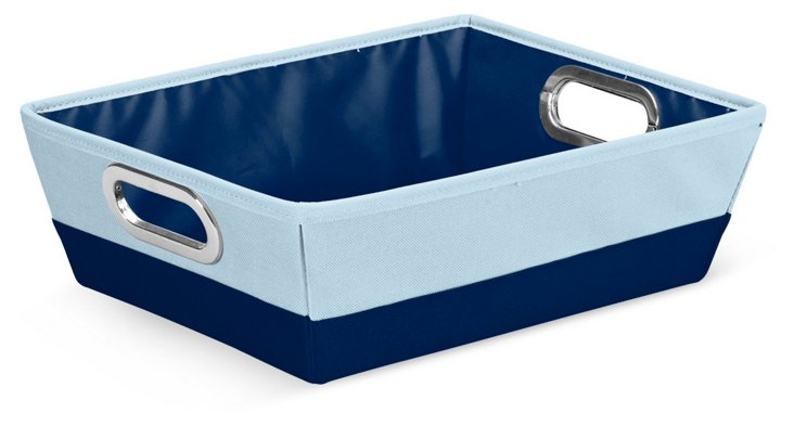 S/2 Shallow Storage Bins, Navy
