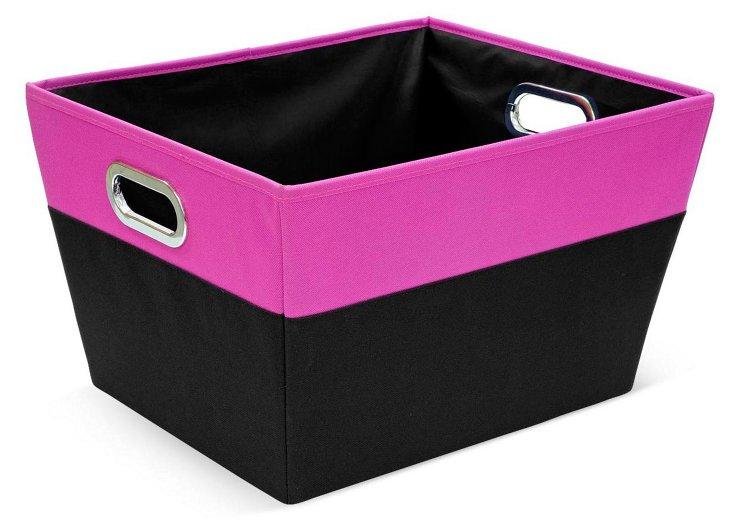 S/2 Large Storage Bins, Pink
