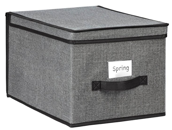 Faux-Jute Large Storage Box, Gray