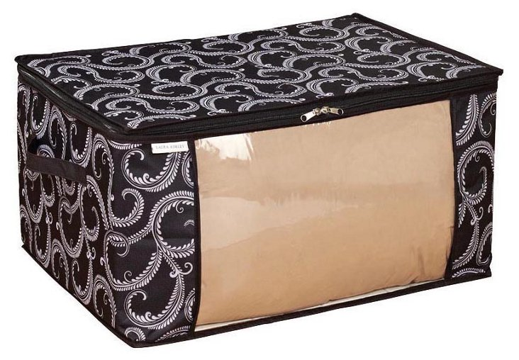 S/2 Storage Bags, Black Swirl