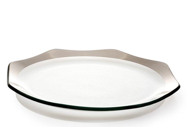 S/4 Octagonal Dinner Plates, Platinum