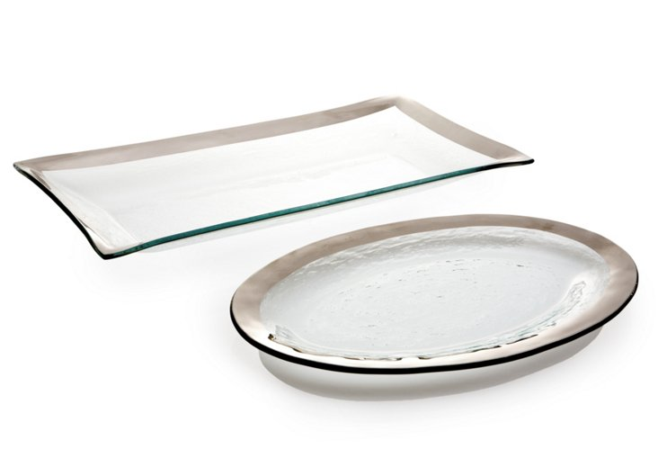 Oval Platter & Rectangular Bowl, Small