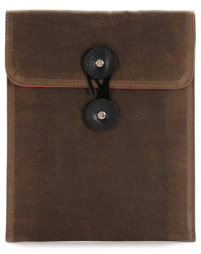 Wax Canvas iPad Case, Oak