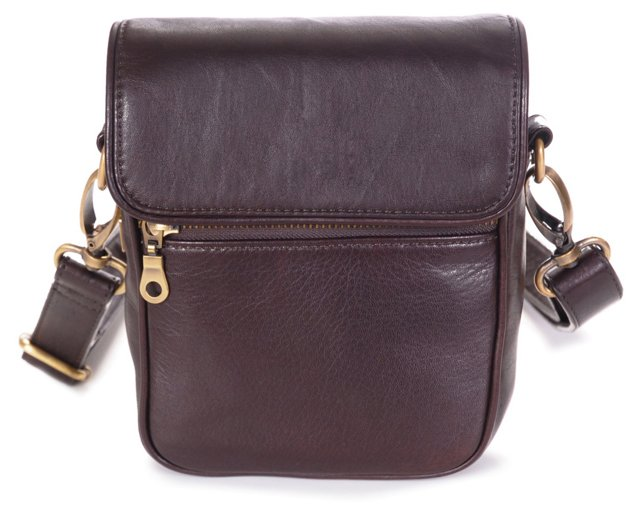 Bowery Leather Crossbody, Brown