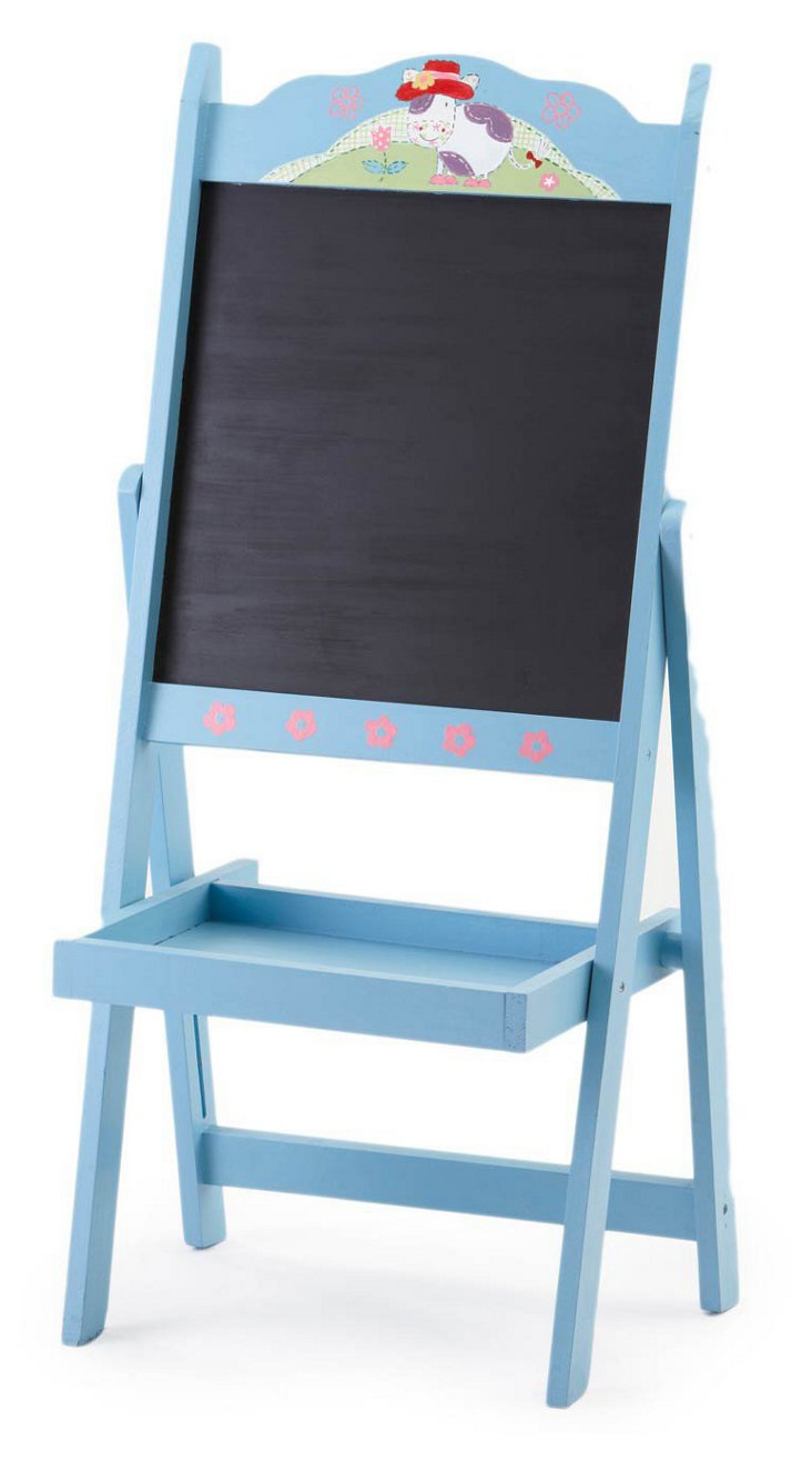 Moo Cow Floor Easel, Blue