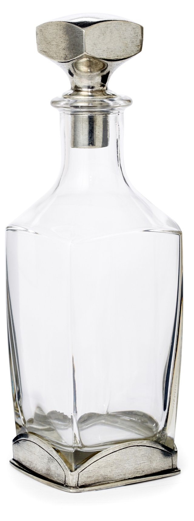 Glass & Pewter Decanter