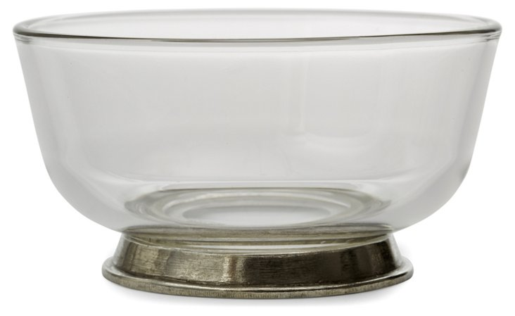 Glass & Pewter Bowl, Small