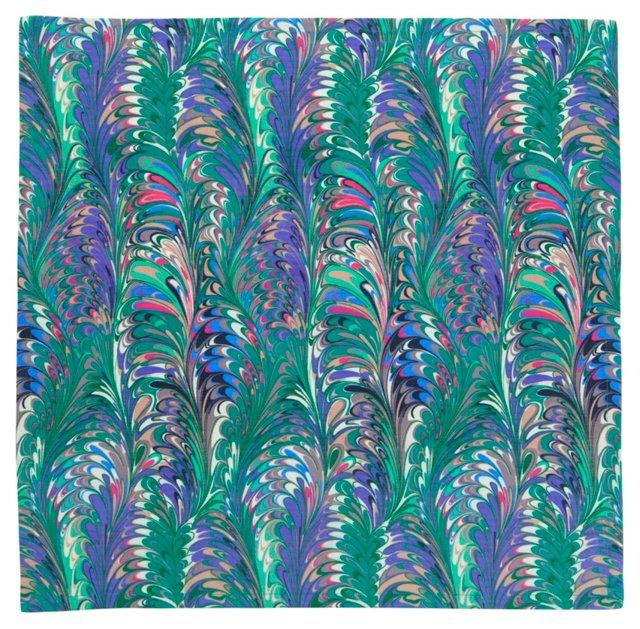 S/4 Florentine Napkins, Berry/Blue