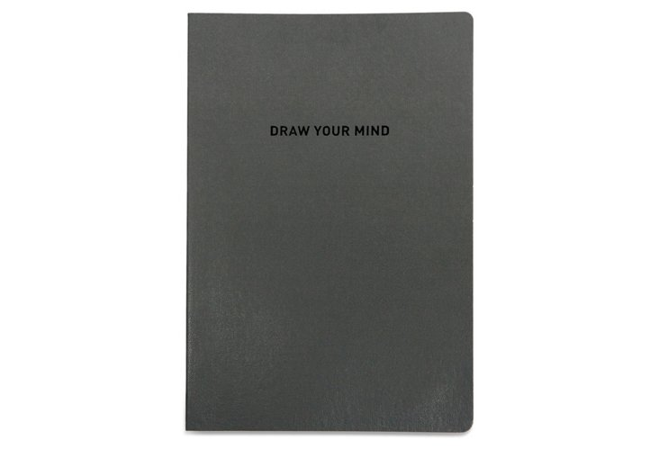 Draw Your Mind Notebook, Gray