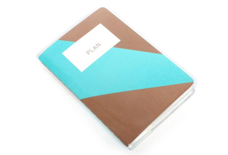 S/2 Mini Planners, Mint/Chocolate