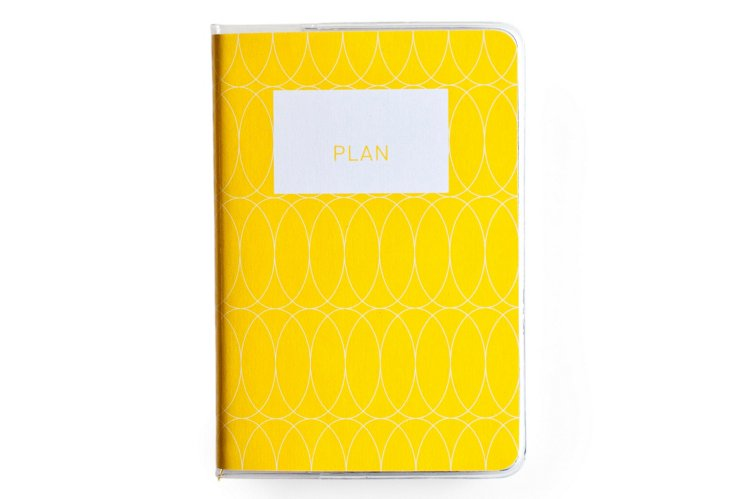 S/2 Perfect Mini Planners, Yellow