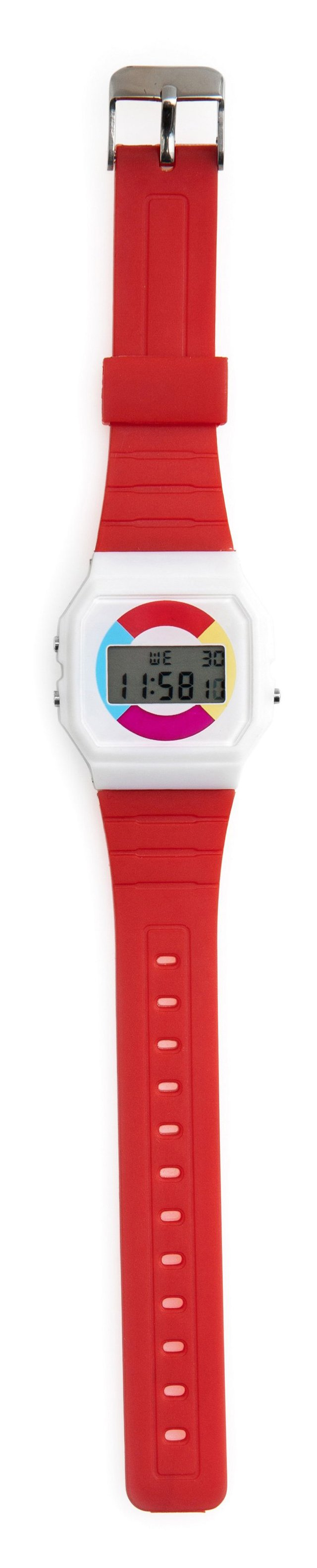 Throwback Colorparty Watch, Red Strap