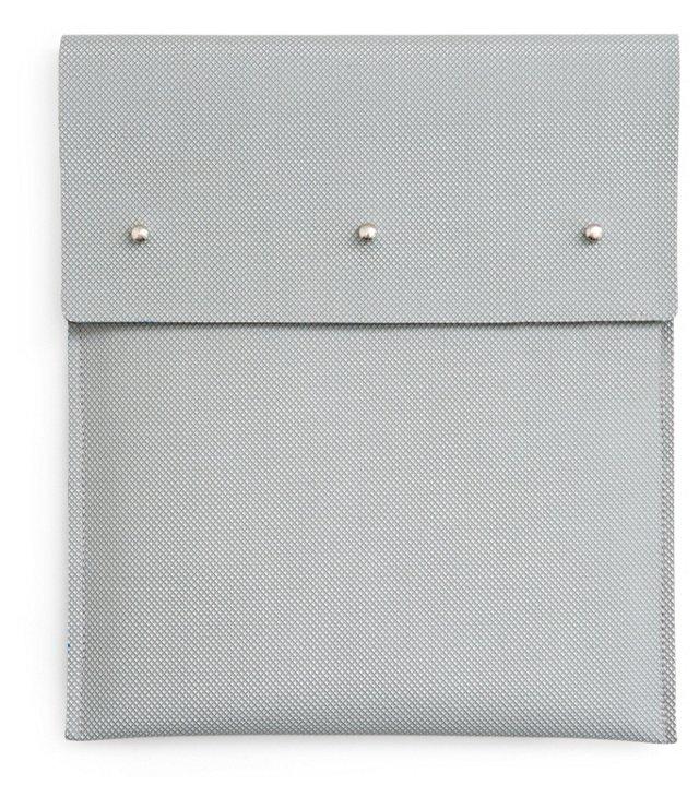 Three Dots iPad Case, Gray