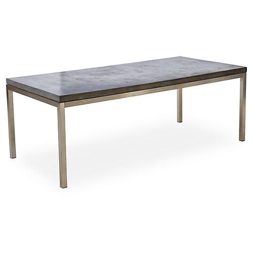 "Hayden 83"" Dining Table, Concrete/Steel"