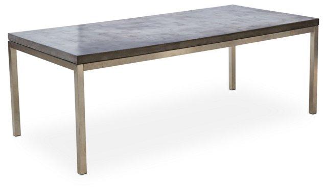"""Hayden 83"""" Dining Table, Concrete/Steel"""
