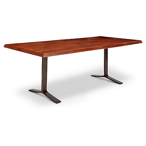 "Luke 84"" Dining Table, Walnut"