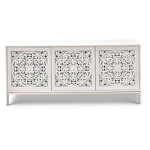 """Maya 75"""" Sideboard, White"""