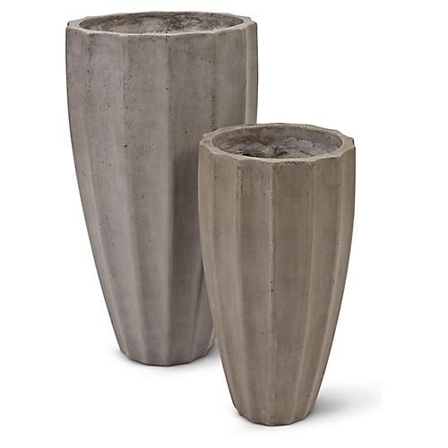 Finn Planters, Dark Gray
