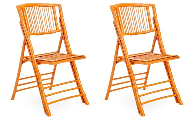 Orange Anneliese Chairs, Set of 2
