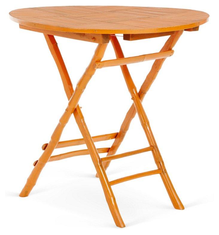 Anneliese Folding Table, Orange