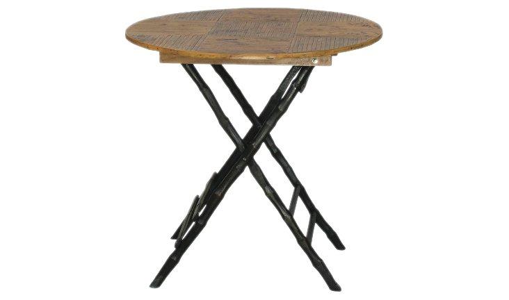 Anneliese Folding Table, Black/Tortoise