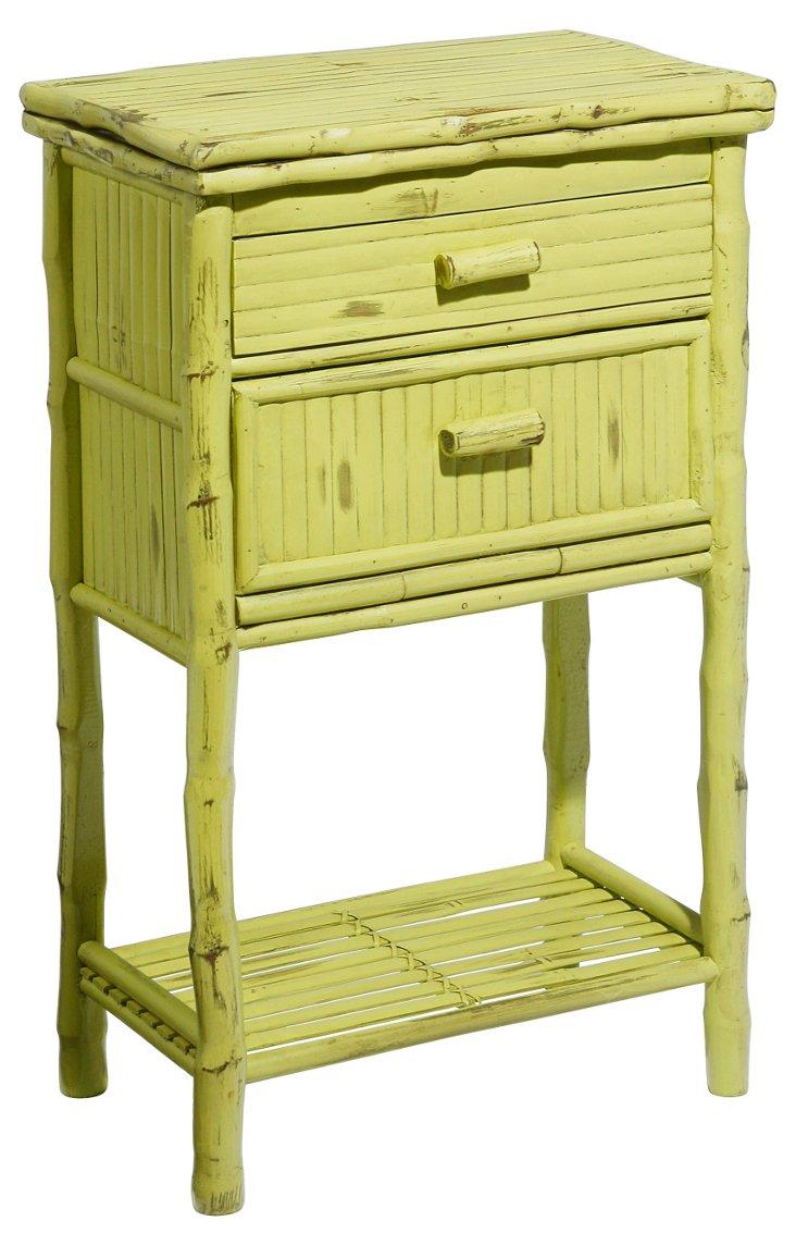 Imogen 2-Drawer Side Cabinet, Lime