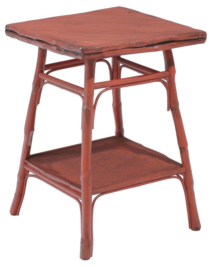 Pearl Square Table, Brick