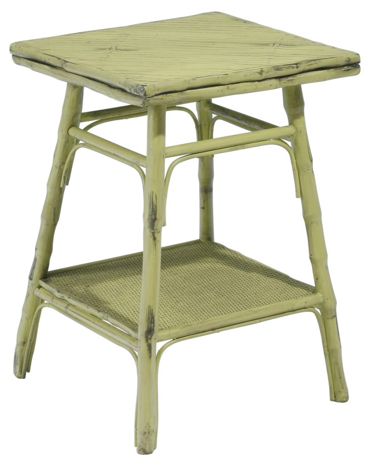 Pearl Square Table, Green