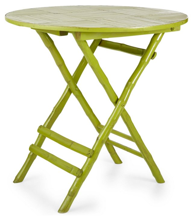 Anneliese Folding Table, Grass Green