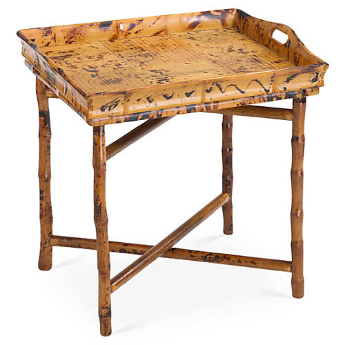 Lena Side Tray Table, Tortoise