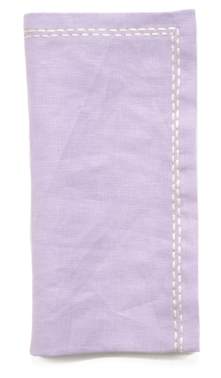 S/4 Washed Linen Napkins, Lilac