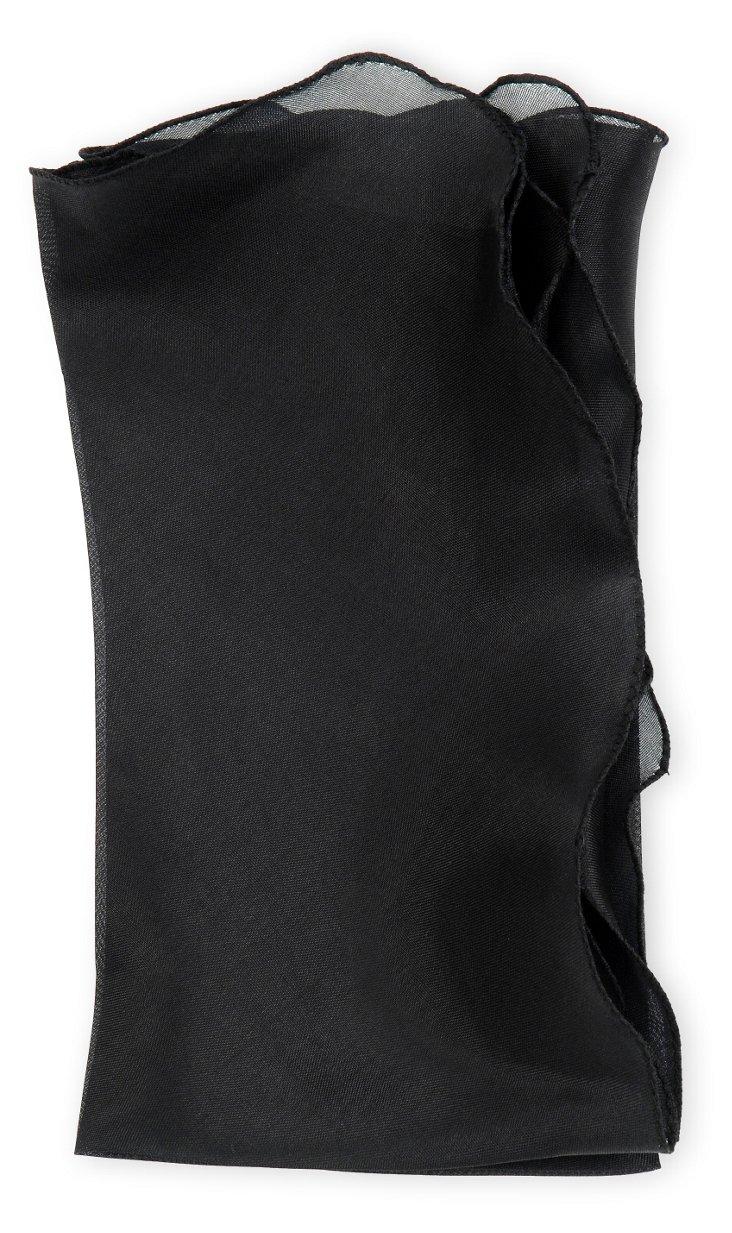 S/4 Bias Silk Organza Napkins, Black