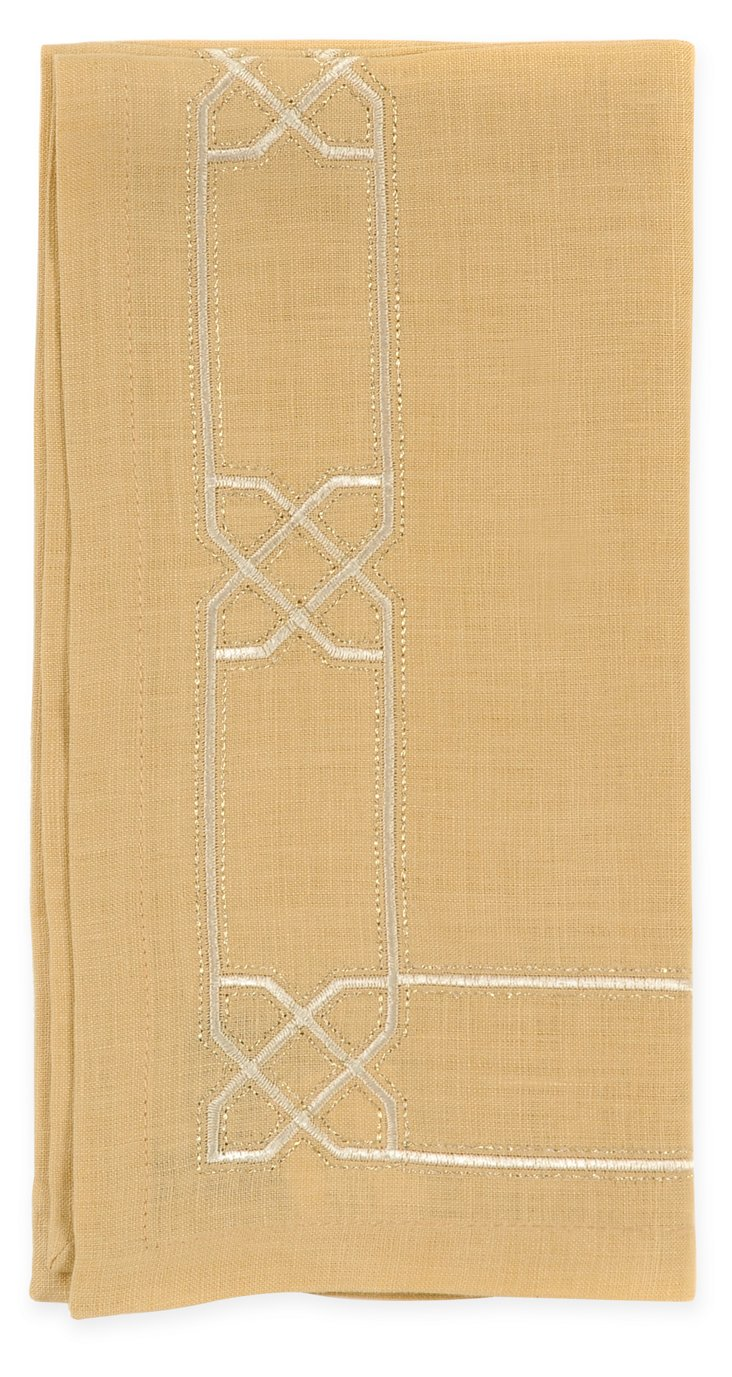 S/4 Lattice Napkins, Honey