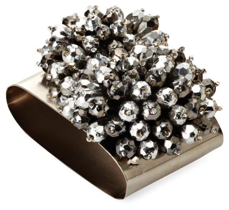 S/4 Metallic Nova Cuff Napkin Rings