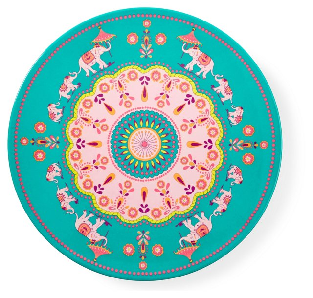 S/2 Melamine Elephant Platters