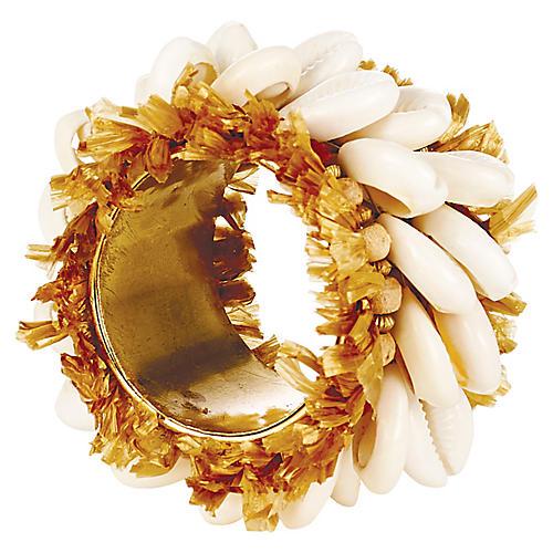Nomad Napkin Ring, Gold/Beige