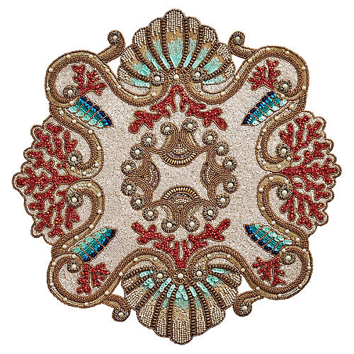 S/2 Reef Place Mats, Bronze/Multi