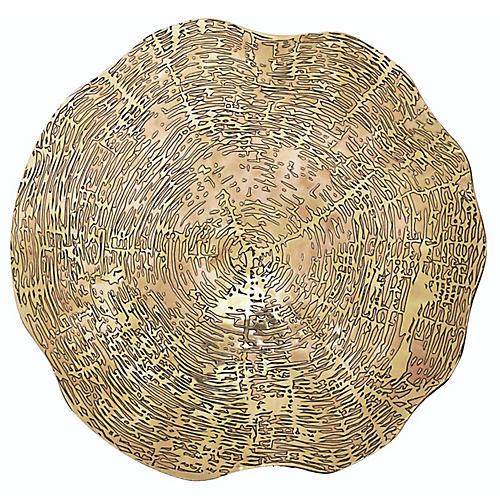 S/4 Timber Place Mats, Gold
