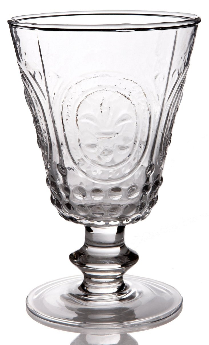 S/4 Amelie Wine Glasses, Clear