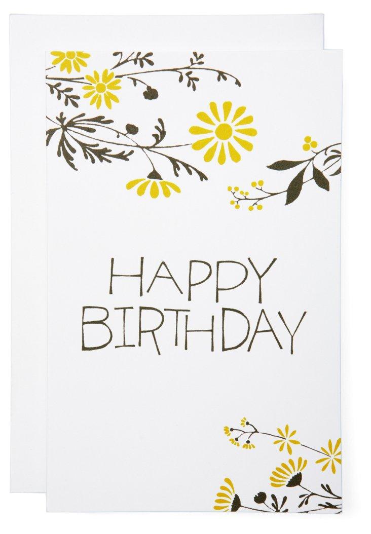 S/6 Happy Birthday Summerfield Cards