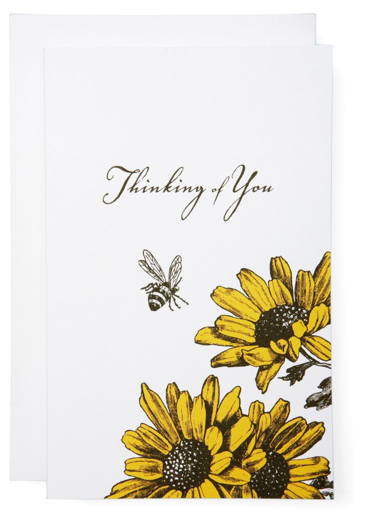S/6 Thinking of You Daisy Cards