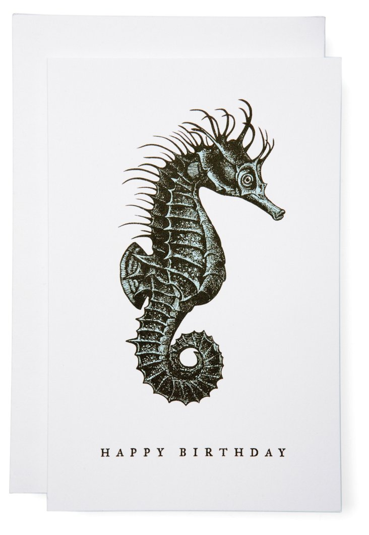 S/6 Happy Birthday Seahorse Cards