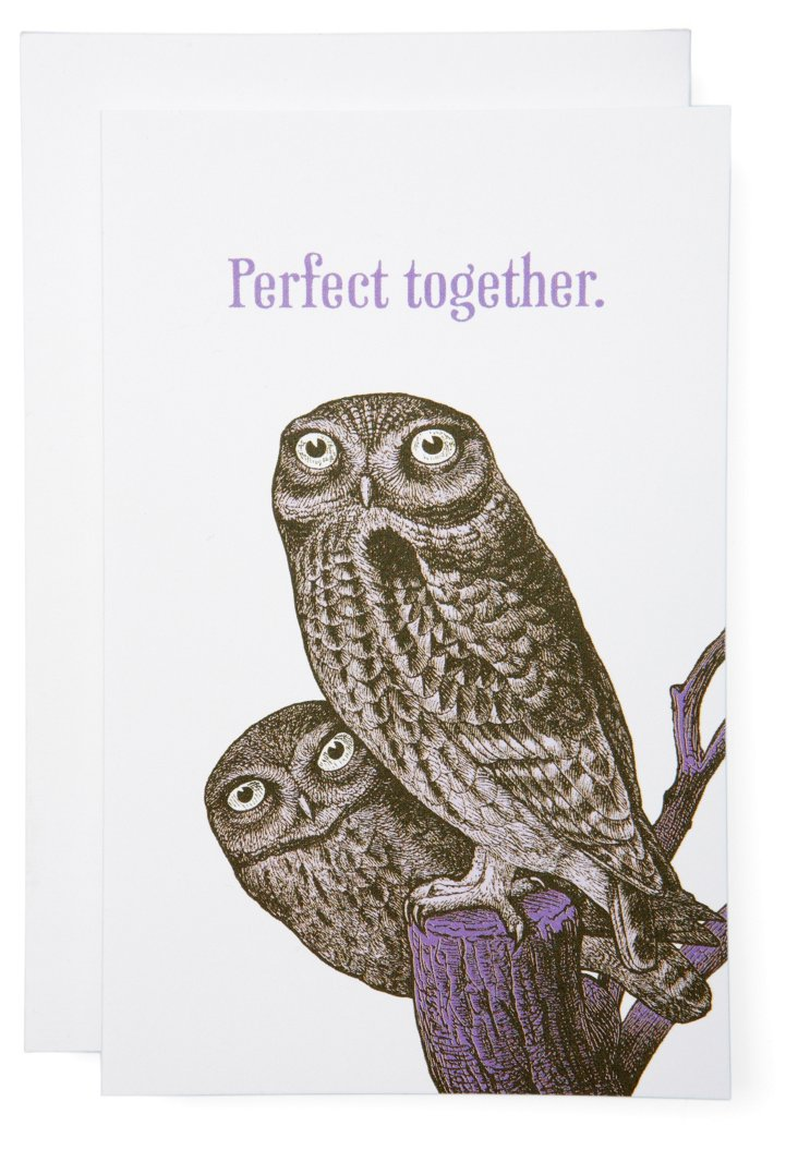 S/6 Perfect Together Owl Cards