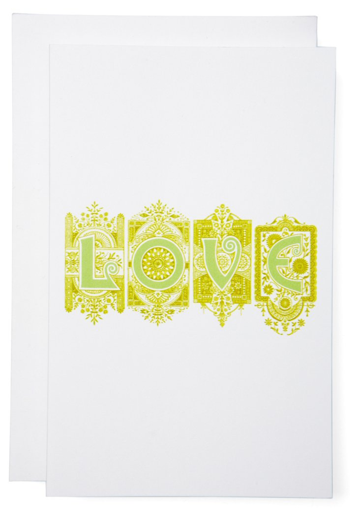 S/6 LOVE Cards, Green