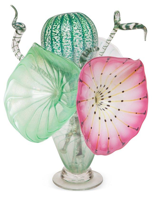 Glass Lotus Bouquet