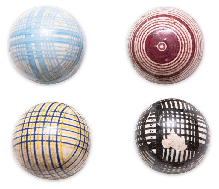 Medium Victorian Carpet Balls, S/4, I