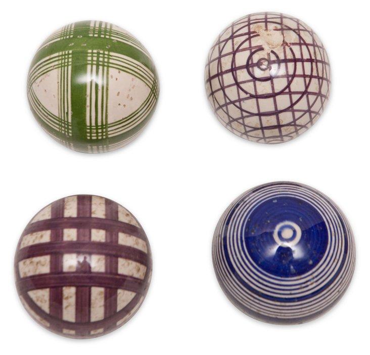 Medium Victorian Carpet Balls, S/4, III