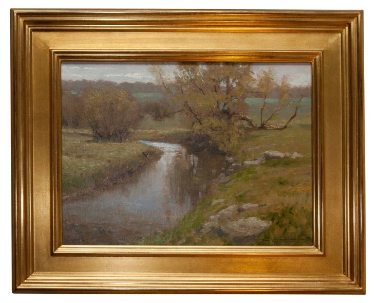 Oil Painting, Early Spring Pool