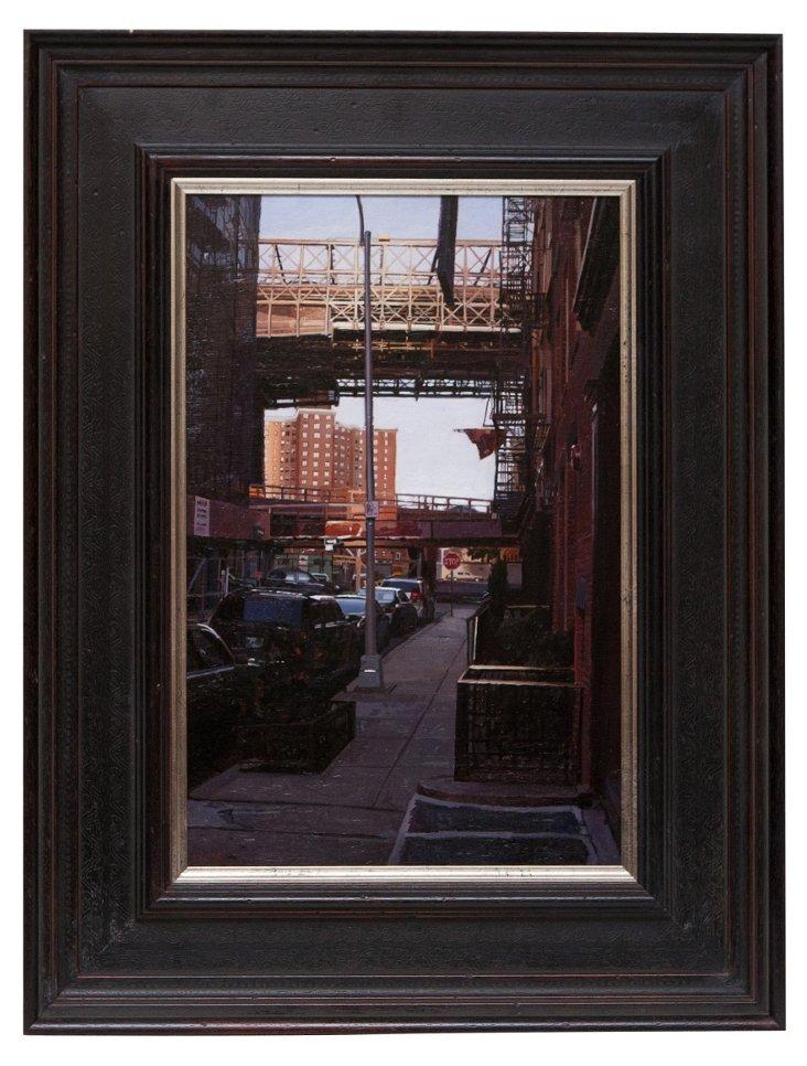 2010 Oil Painting, Urban Street Scene